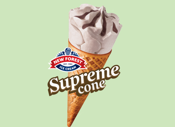 supreme salted caramel cone